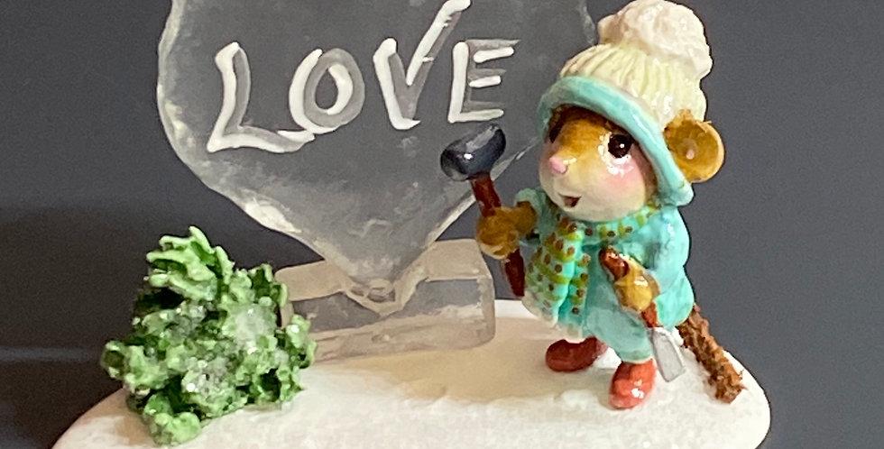 Ice Love sculpture