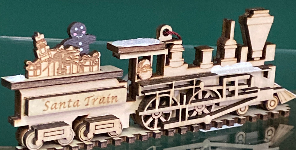 Ginger Cottages train