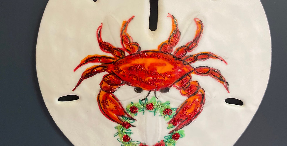 red crab w/wreath