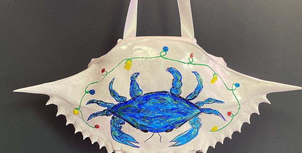 blue crab w/lights crab shell