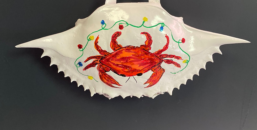 red crab w/lights crab shell