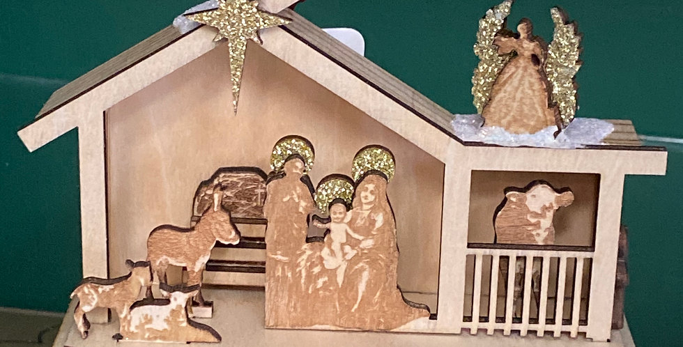 Ginger Cottages Nativity scene