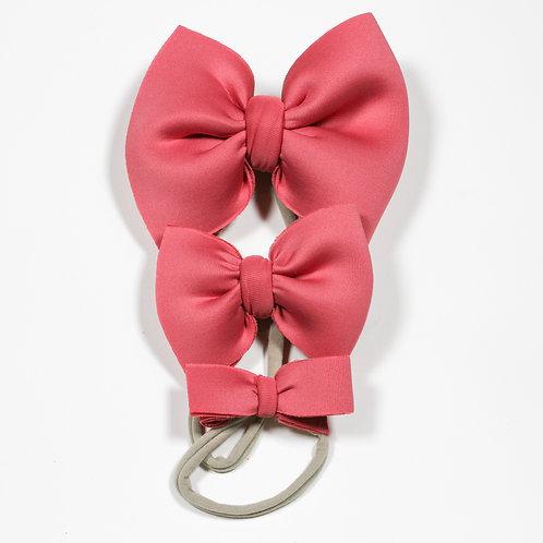Dark Pink Puff Bow