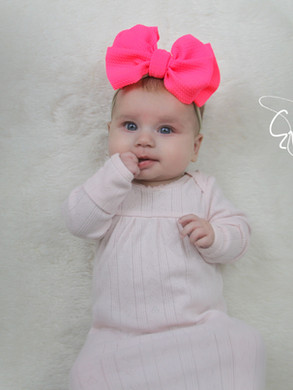 evelyn lane hair bows hot pink nylon
