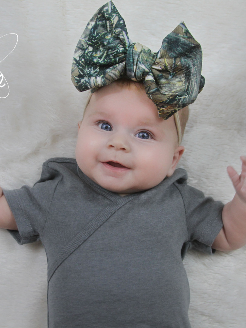 evelyn lane hair bows camo nylon