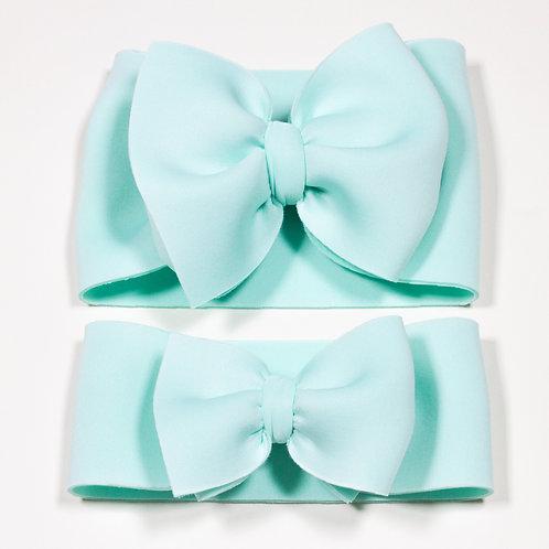 Light Mint Puff Bow