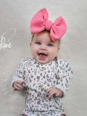 evelyn lane hair bows pink nylon