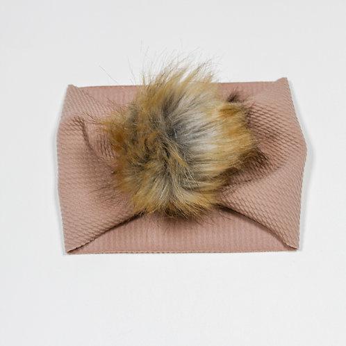 Brown Puff Ball Headband