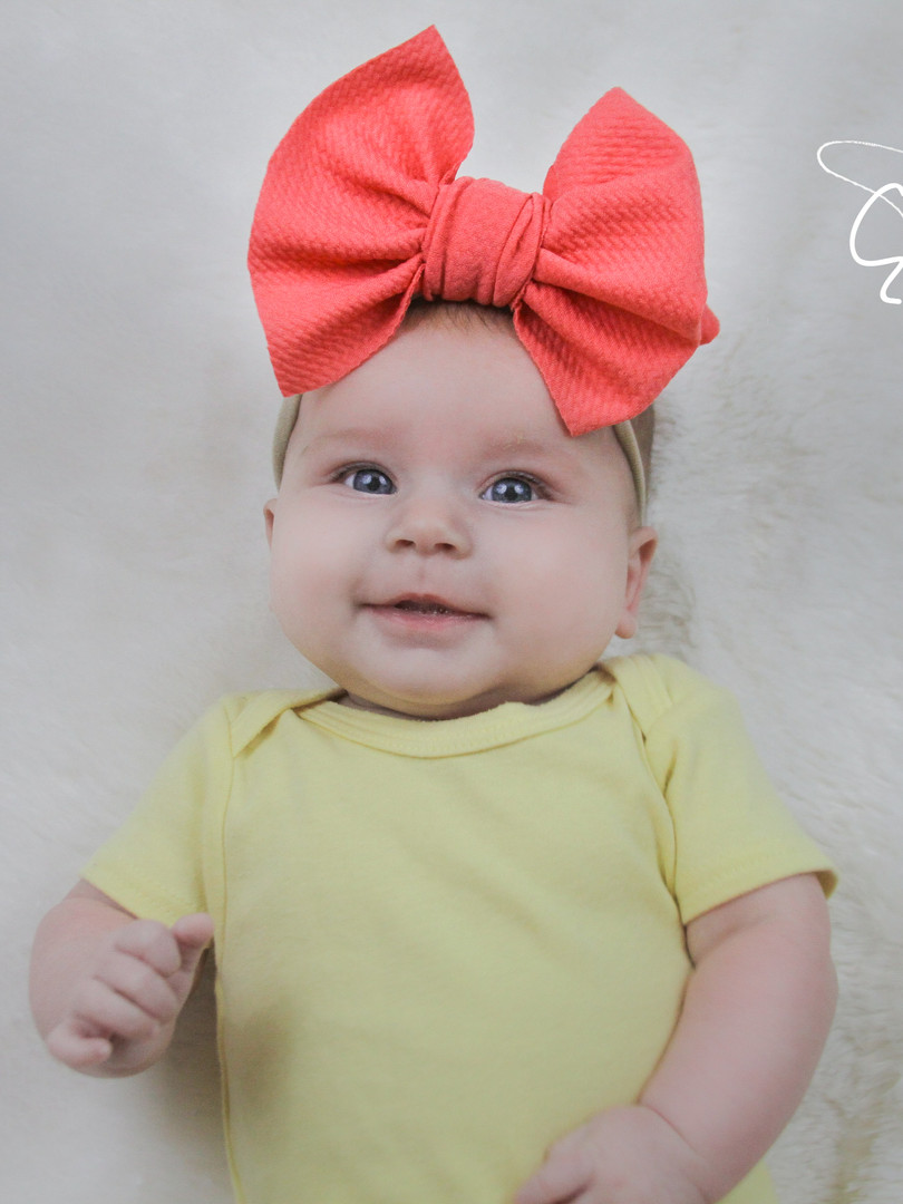 evelyn lane hair bows coral nylon