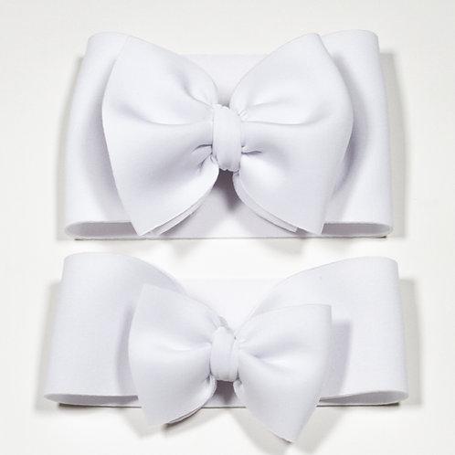 White Puff Bow