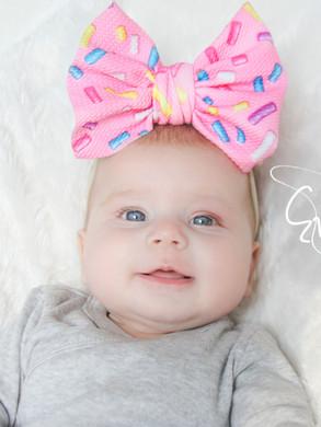 evelyn lane hair bows sprinkles pink par