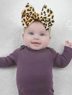 evelyn lane hair bows leopard nylon