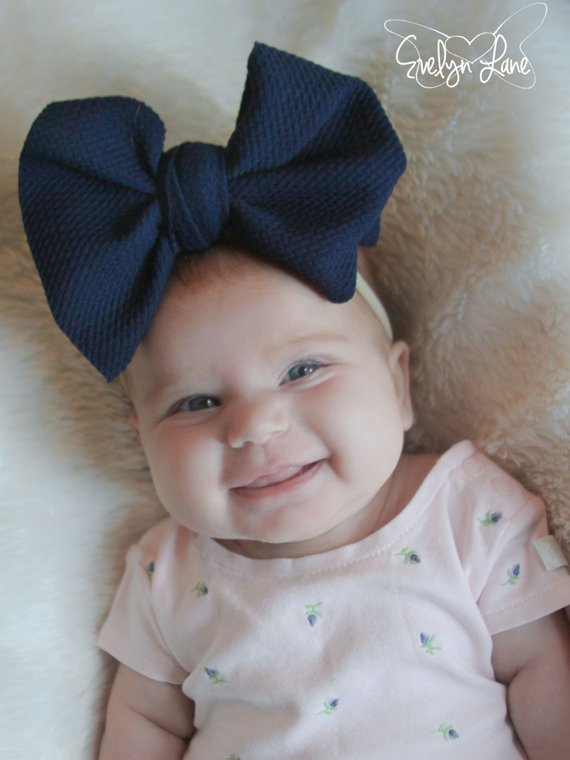 evelyn lane hair bows navy nylon