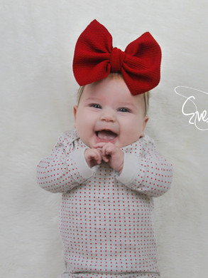evelyn lane hair bows red nylon
