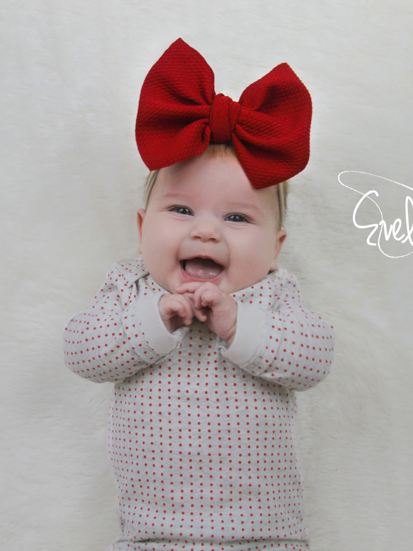 evelyn lane hair bows red nylon