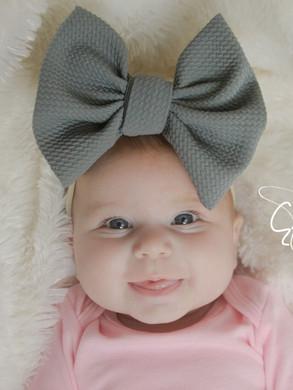 evelyn lane hair bows grey big bow nylon