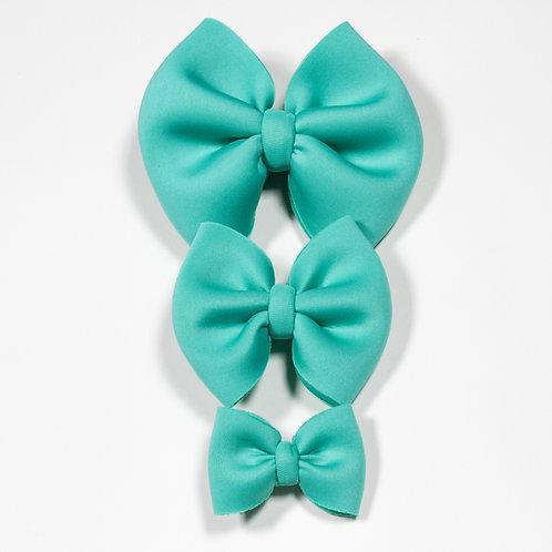 Dark Mint Puff Bow