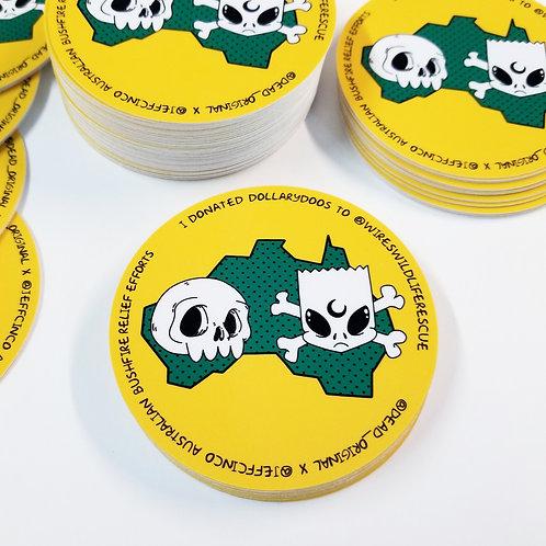 "2""x2""  Writable Vinyl Sticker"