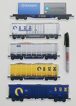 SUX Railway Eggshell Sticker