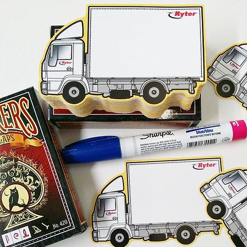 """""""Ryter"""" Truck Rental Eggshell Sticker"""