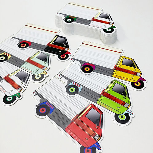 The Rickshaw Eggshell Sticker