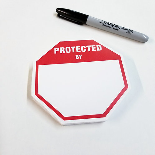 Protected By Eggshell Stickers