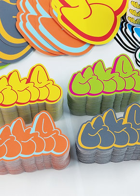 "2""x3.5"" Die Cut Eggshell Sticker"
