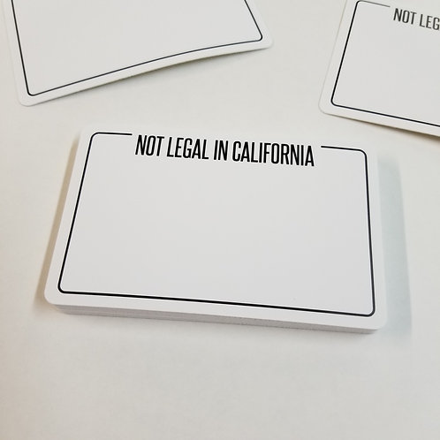 NOT LEGAL Eggshell Stickers