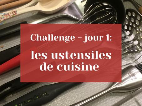 Challenge jour 1 - les ustensiles de cuisine
