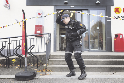 Bow-and-arrow attack in Norway treated as apparent terrorist attack