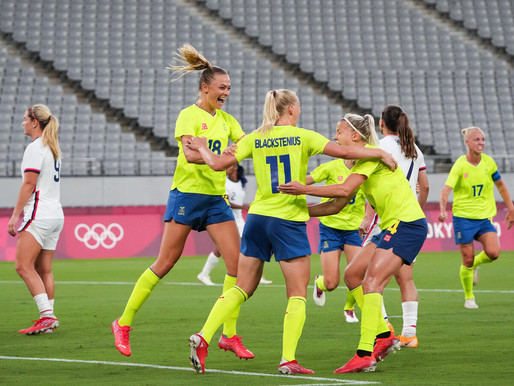 Sweden dominates US from start to finish