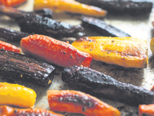 Roasting carrots for sweetness and color