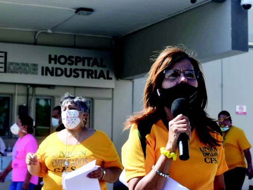 Industrial Hospital employees demand COVID incentives, overtime, other payments owed