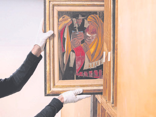Lightning strikes twice: Another lost painting by Jacob Lawrence surfaces