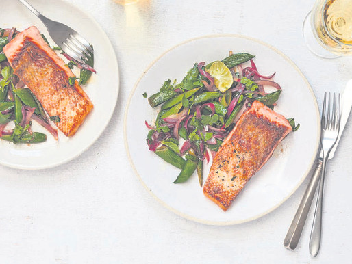 One pan, 30 minutes and a superior spring salmon
