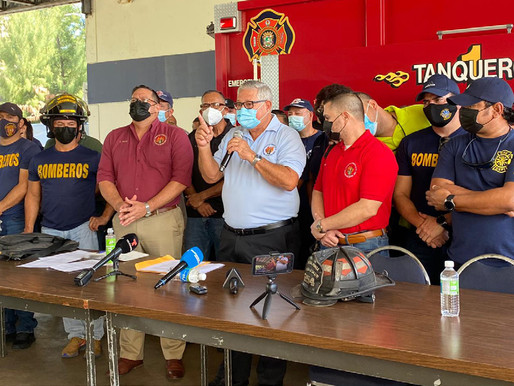 Firefighters call on governor to honor salary hike