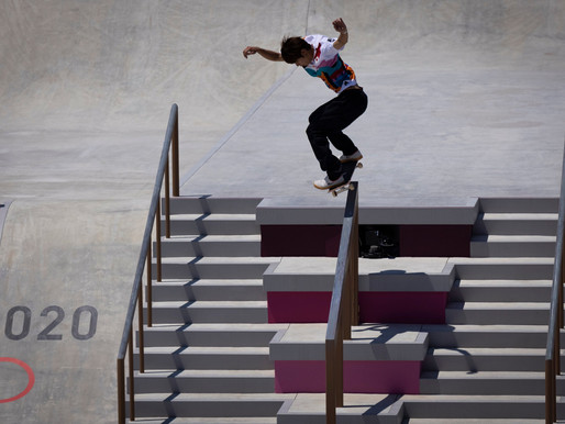 A son of Tokyo wins skateboarding's first gold
