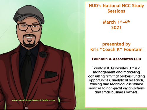 HUD's National HCC Study Sessions-March 1-4, 2021