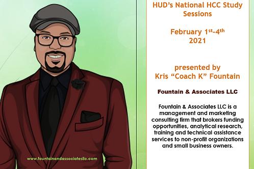 HUD's National HCC Study Sessions-February 1-4, 2021