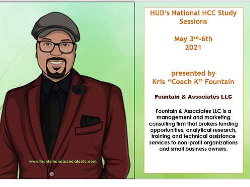 HUD's National HCC Study Sessions-May 3rd - 6th, 2021