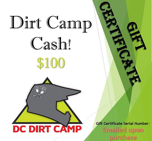 2021 Dirt Camp Cash