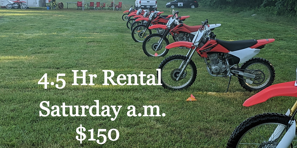 $150 Saturday a.m. 4.5hr Rental at OAO