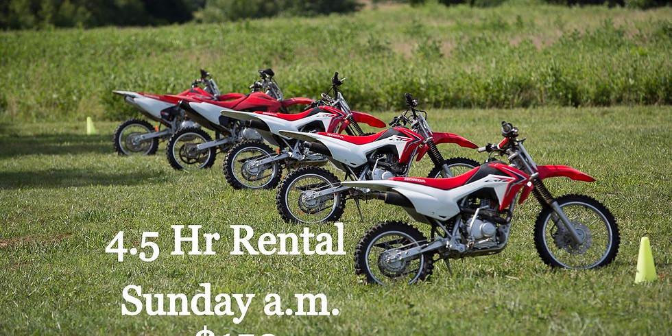 $150 Sunday a.m. 4.5hr Rental at OAO