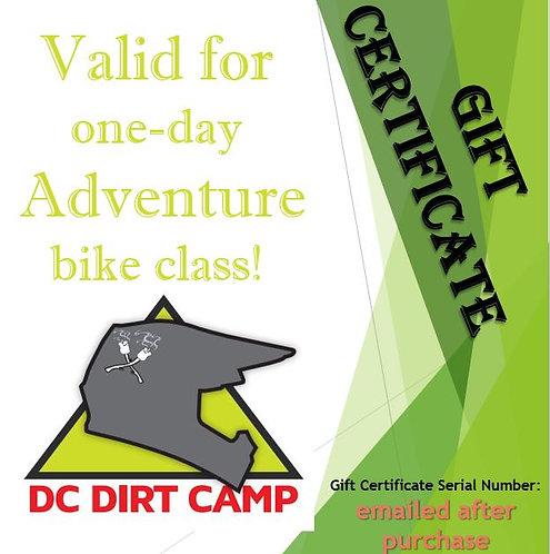 2021 Adventure Bike Class