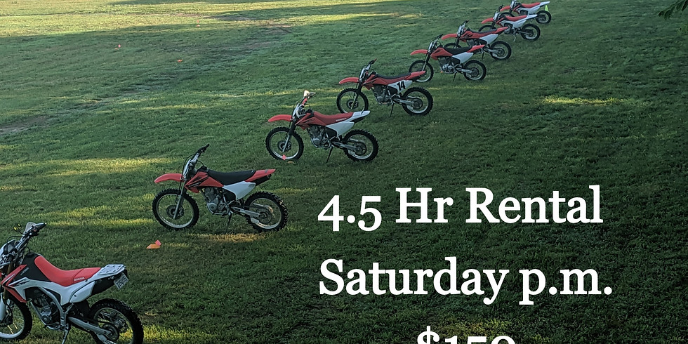 $150 Saturday p.m. 4.5hr Rental at OAO
