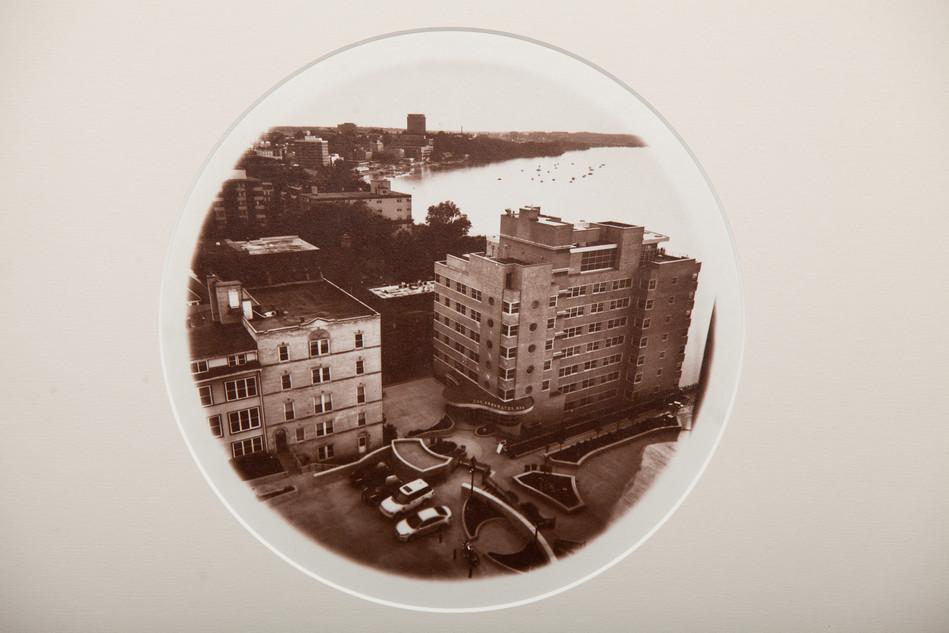 edgewater rooftop, 8x10 albumen print fr