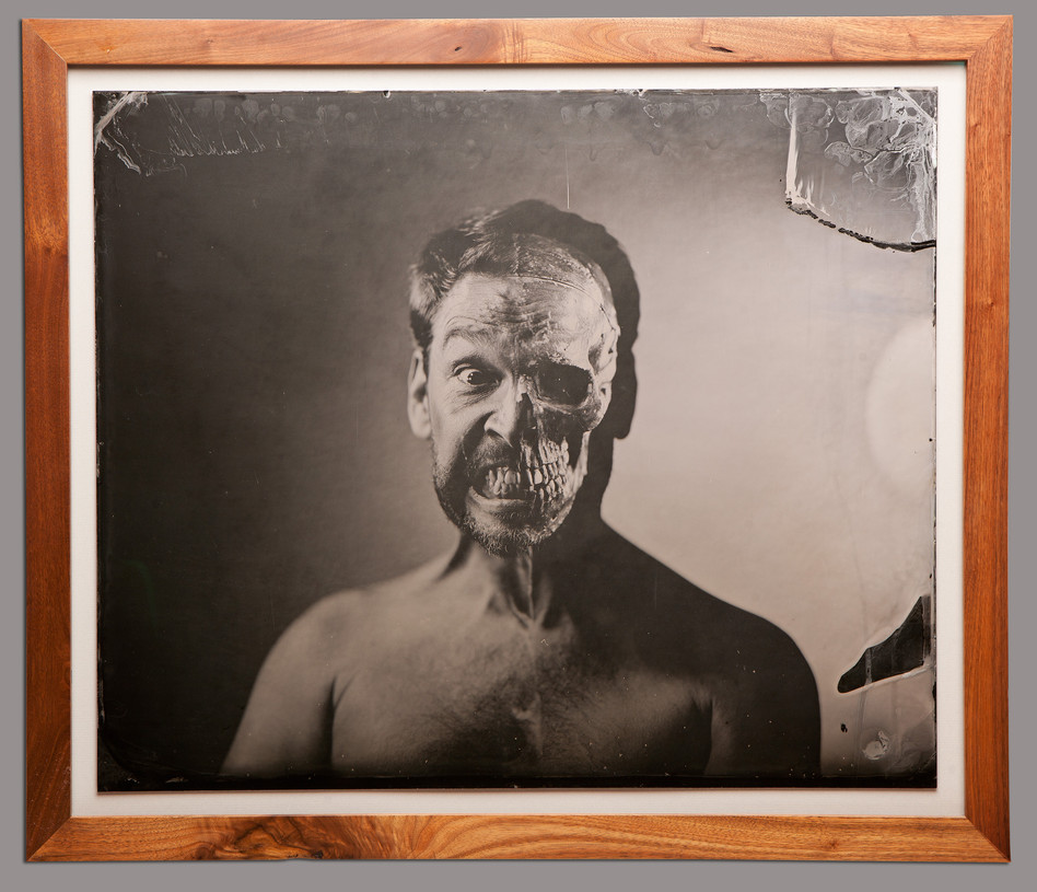 The doctor_20x24 inch tintype_double exposed