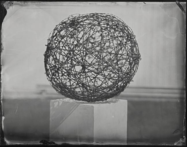 barbwire ball_8x10 tintype