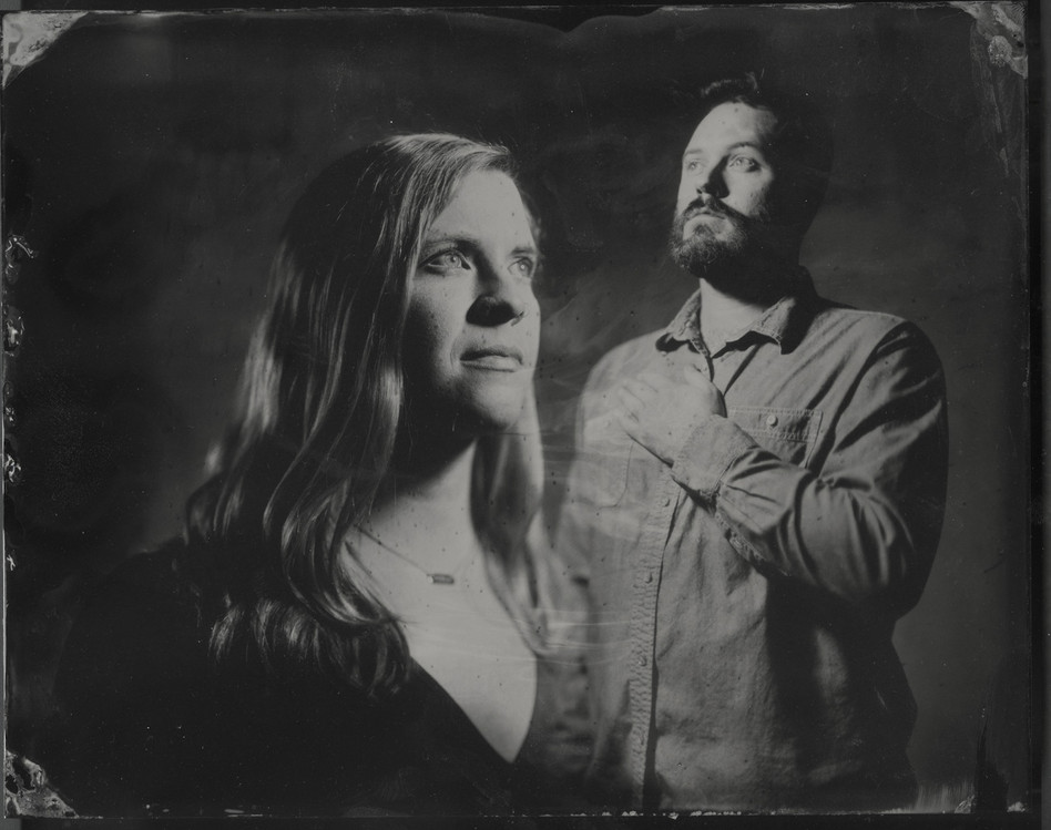 Kevin and Katie_8x10 tintype double exposed