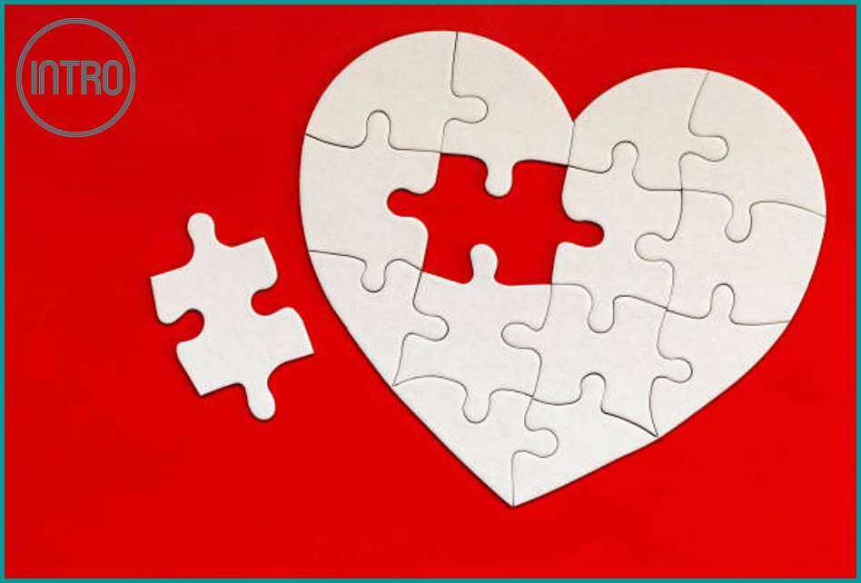 Covid-19 isolation pastimes heart jigsaw puzzle